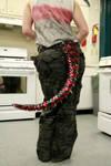 Dragon Tail - Red Mottled Stripes on Black