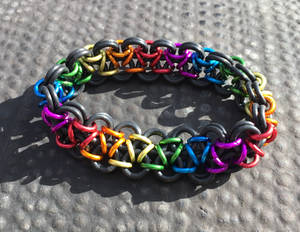 Bracelet - Dark Rainbow Japanese 6-in-2