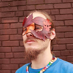 Fallen Leaves Mask