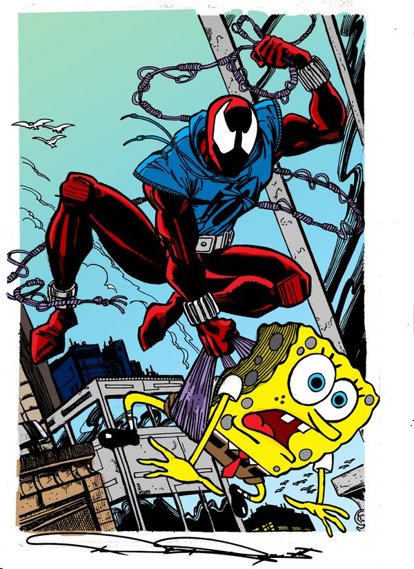 Sponge Bob VS Scarlet Spider by dpage3Scarlet Spider Vs Scarlet Spider