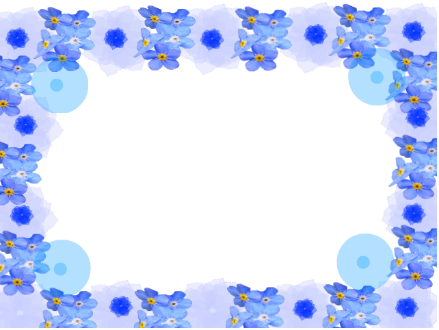 blue flower frame by 1lovedemilovato on DeviantArt