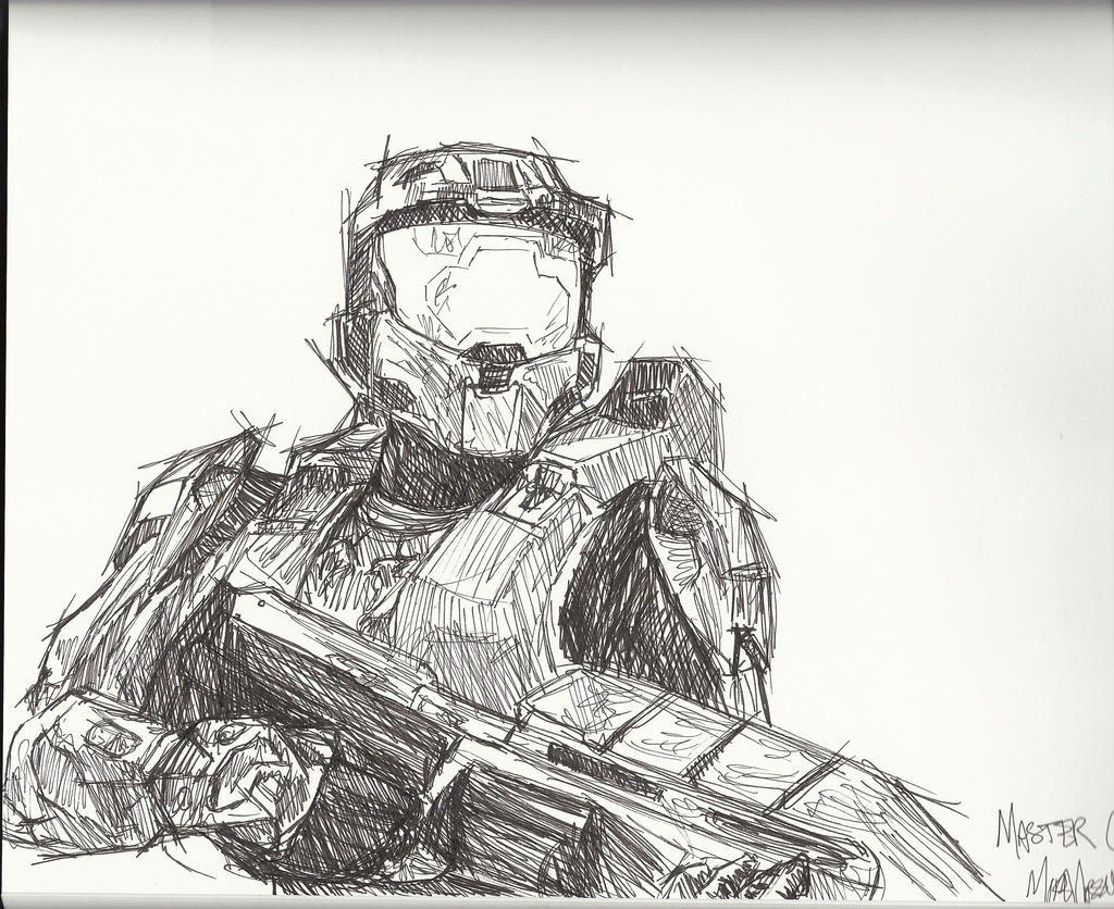 Master Chief Sketch By R3d