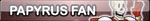 Undertale Papyrus fan button by SilverFlame666