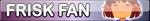 Undertale Frisk fan button by SilverFlame666