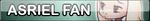 Undertale Asriel fan button by SilverFlame666