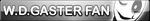 Undertale W.D.Gaster fan button by SilverFlame666