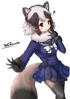 Raccoon from Kemono Friends by Wakaura