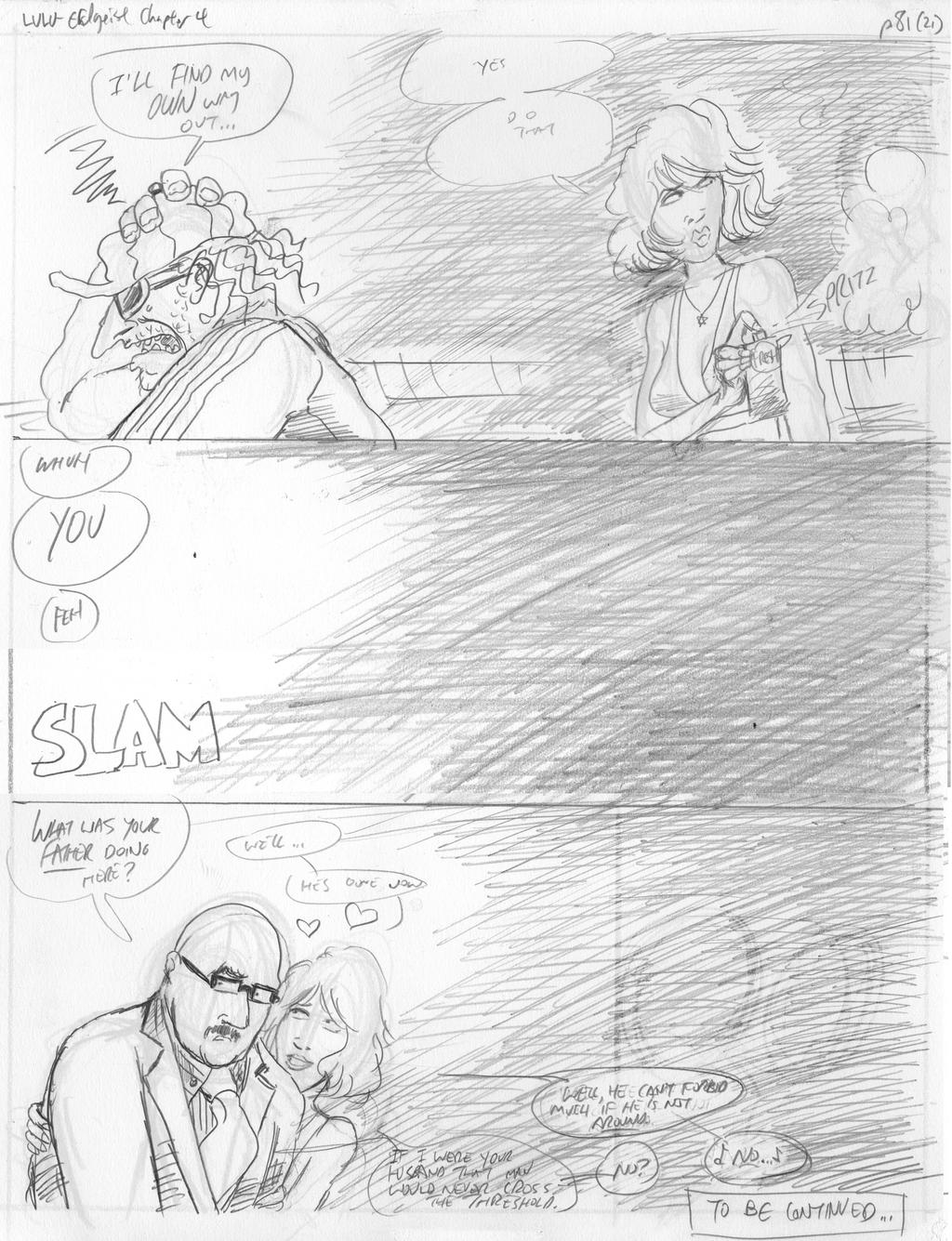 LULU Book 2 - Chapter 4 p. 82 Pencil by JLRoberson