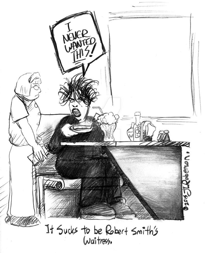 Robert Smith's Waitress (pencil) by JLRoberson