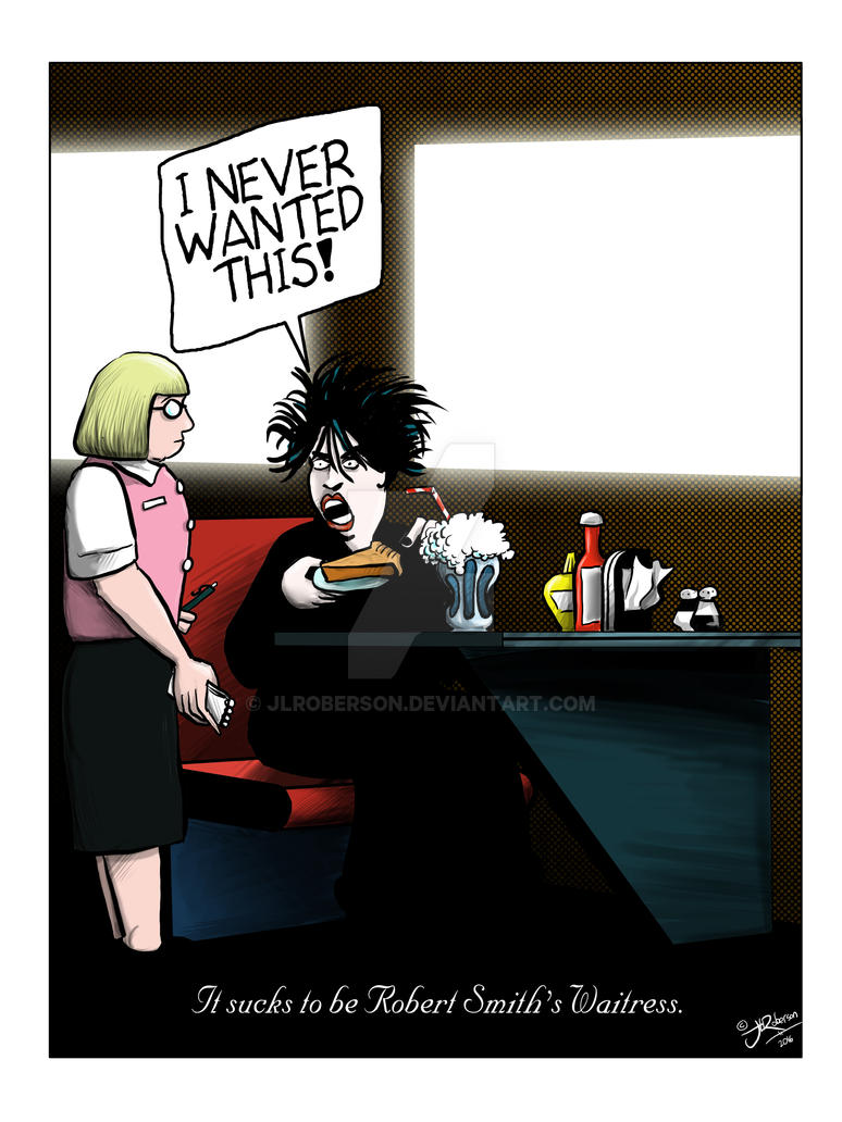 Robert Smith's Waitress (ink/color) by JLRoberson