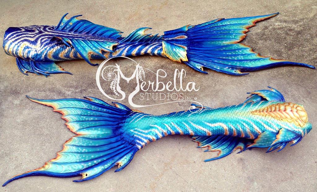 Beautiful in Blue Mermaid Tail by MerBellas