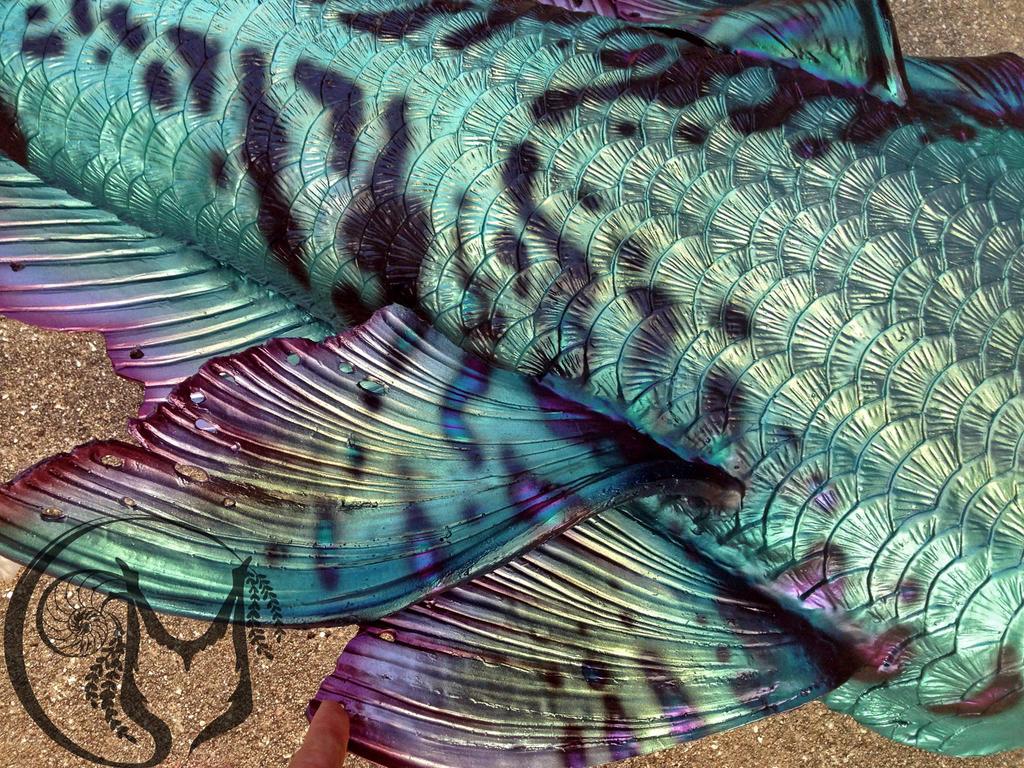 Up close mermaid tail details by MerBellas