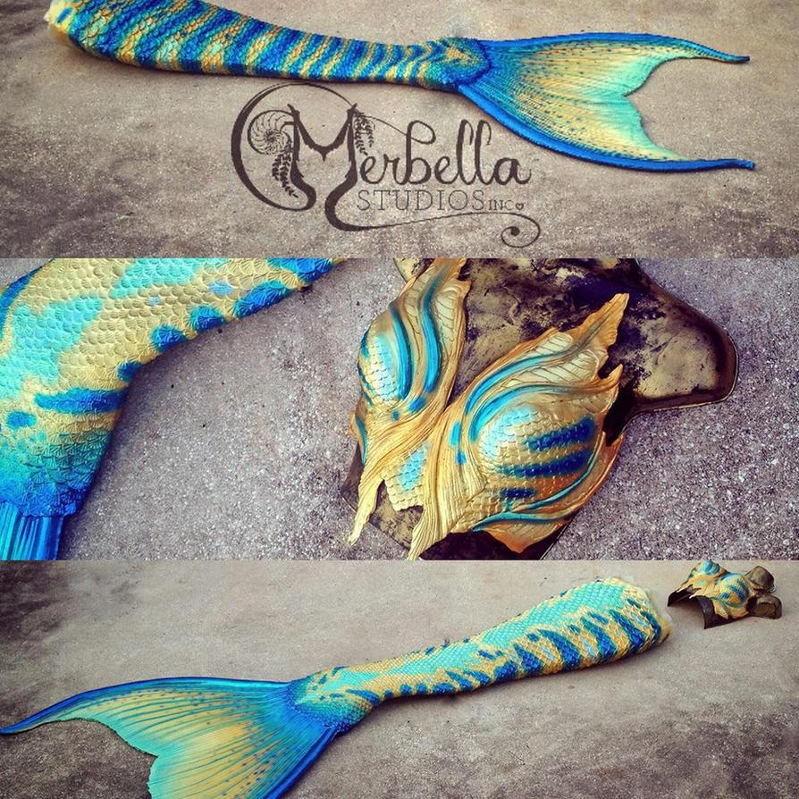 Mermaid Tail details by MerBellas