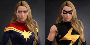 WWE 2k17 Captain Marvel and Ms Marvel 2 by Josh-84