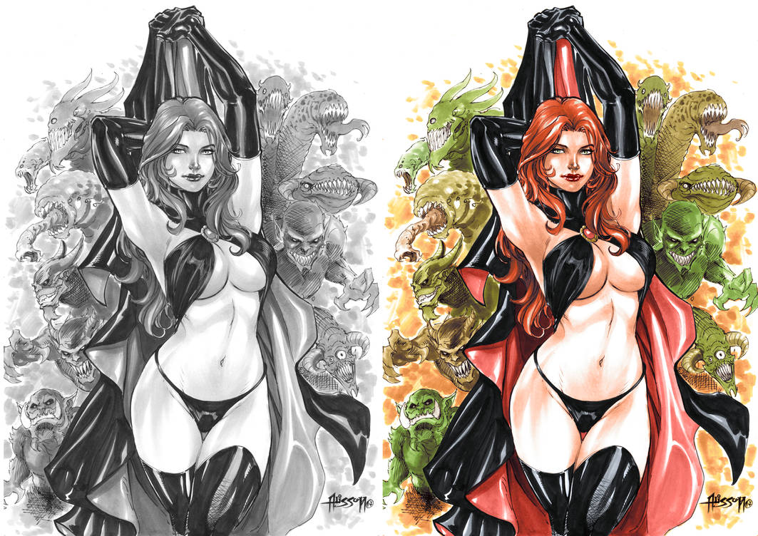 Goblin Queen Colors (Alissonart) Before/After by Josh-84