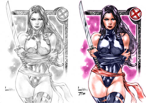 Psylocke Colors (Leandro) Before and After