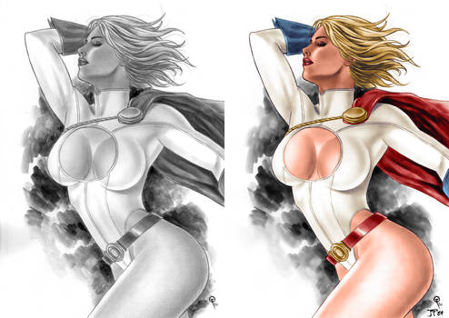 Power Girl Colors (Fabiano Oliveira) Before/After