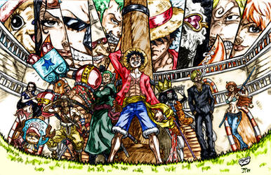 One Piece: Strawhat Crew Colors (CdubbArt)