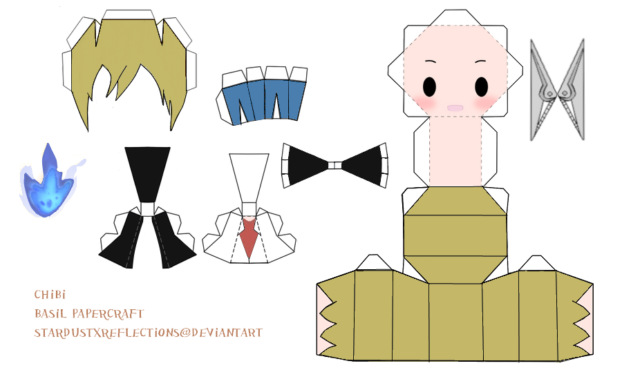 Chibi Basil Papercraft by StardustxReflections on DeviantArt