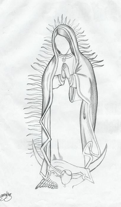 La virgen de guadalupe para colorear for Virgen de guadalupe coloring pages