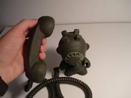 Rotary Phone Munny Custom by gagum