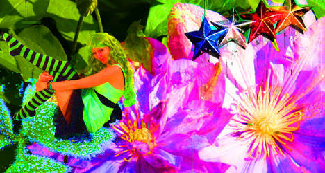 Neon Flower Fairy by Invarible