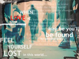 When love is gone... by inok