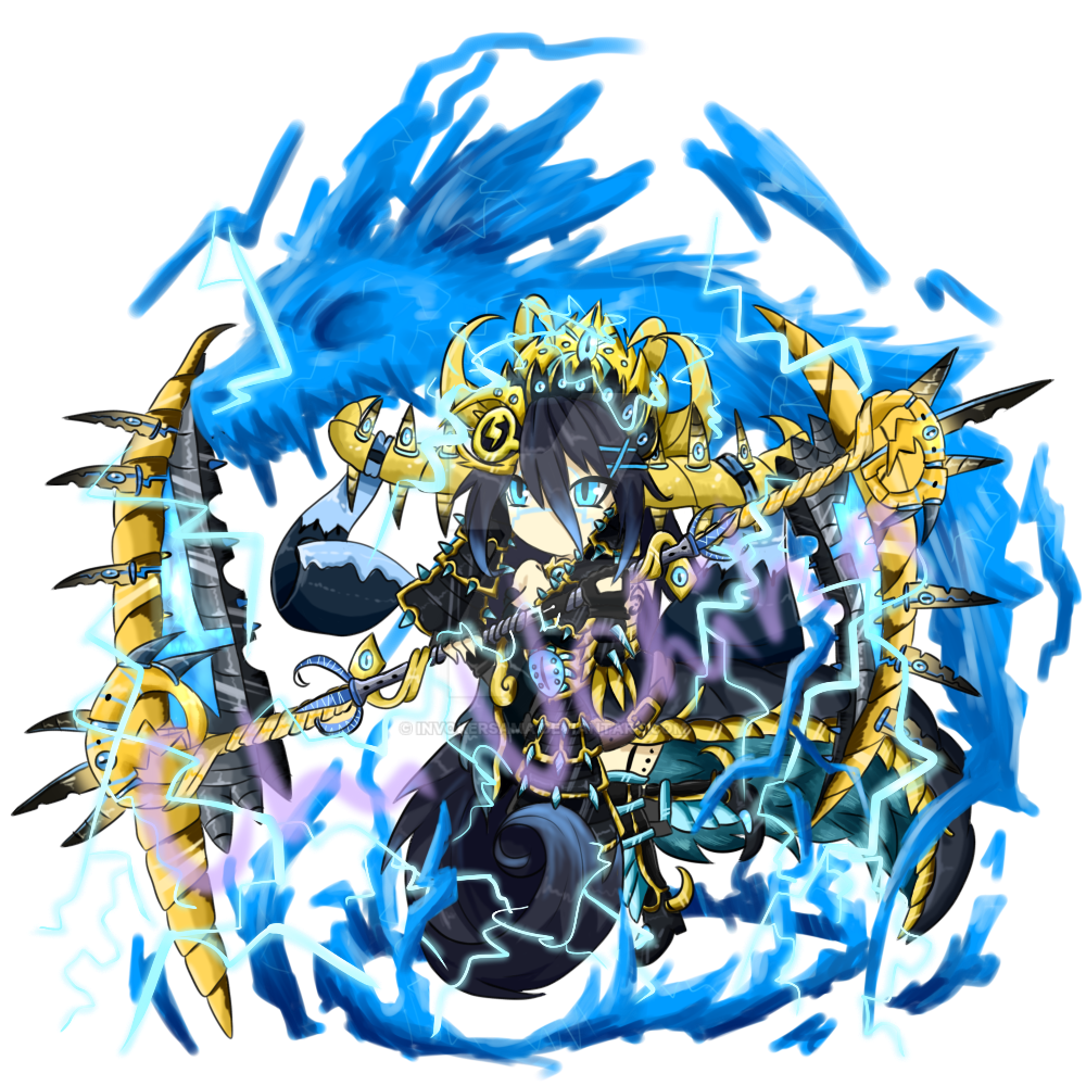 Brave Frontier Character Design Contest : Brave frontier raiijin empress by invokersama on deviantart