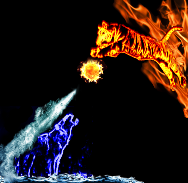 Fire and water by Killerkralle on DeviantArt
