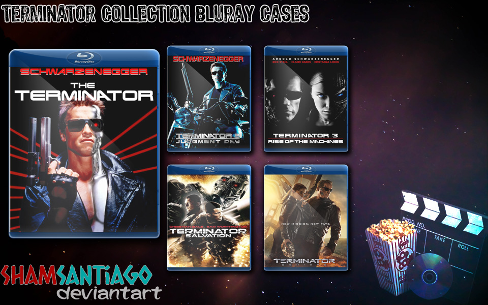 Terminator Collection Bluray Cases by ShamSantiago