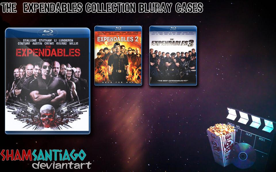 The Expendables Collection Bluray Cases by ShamSantiago