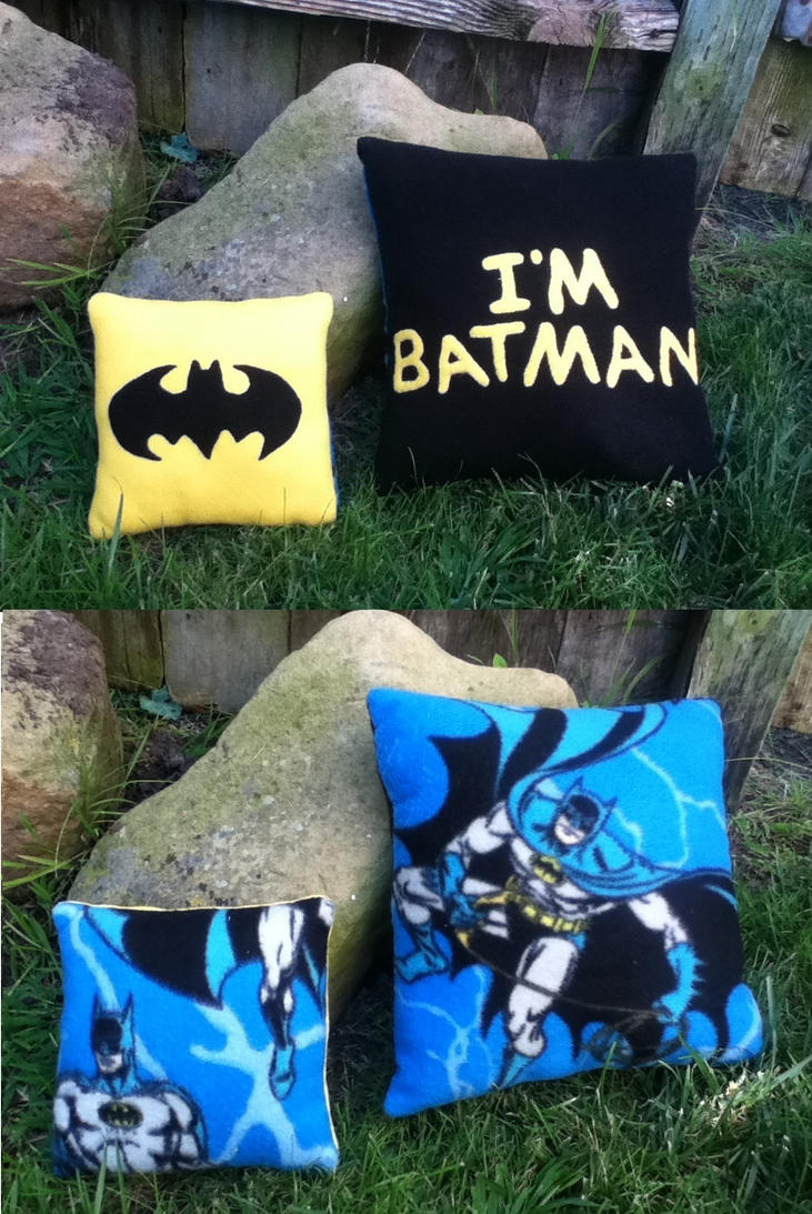 BATMAN PILLOWS by tofuskin21
