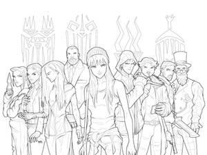 Halfworlds - Lineart