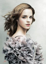 Emma Watson' Portrait by touchedbyred