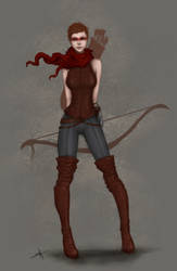 Redhead Ranger by touchedbyred