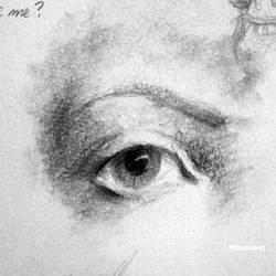 Eye sketch (four - black and white)
