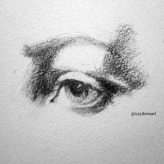 Eye sketch (three - black and white)