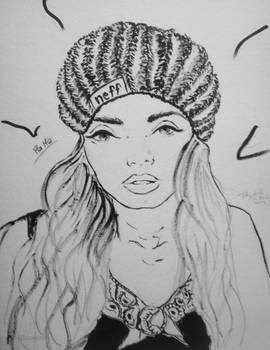 Ink Drawing - Pia Mia Perez