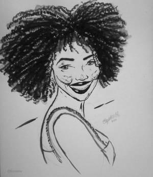 Ink Drawing - Justine Skye