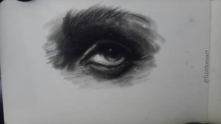 Eye Sketch - Charcoal