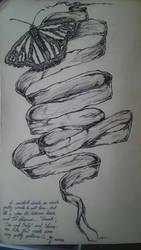 Moleskine Sketch - Butterfly