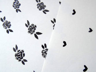 Patterns in Ink - Flowers and Hearts