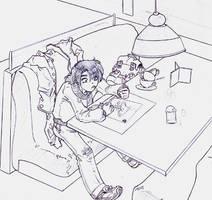 Felipe dibujando by Kumoroko