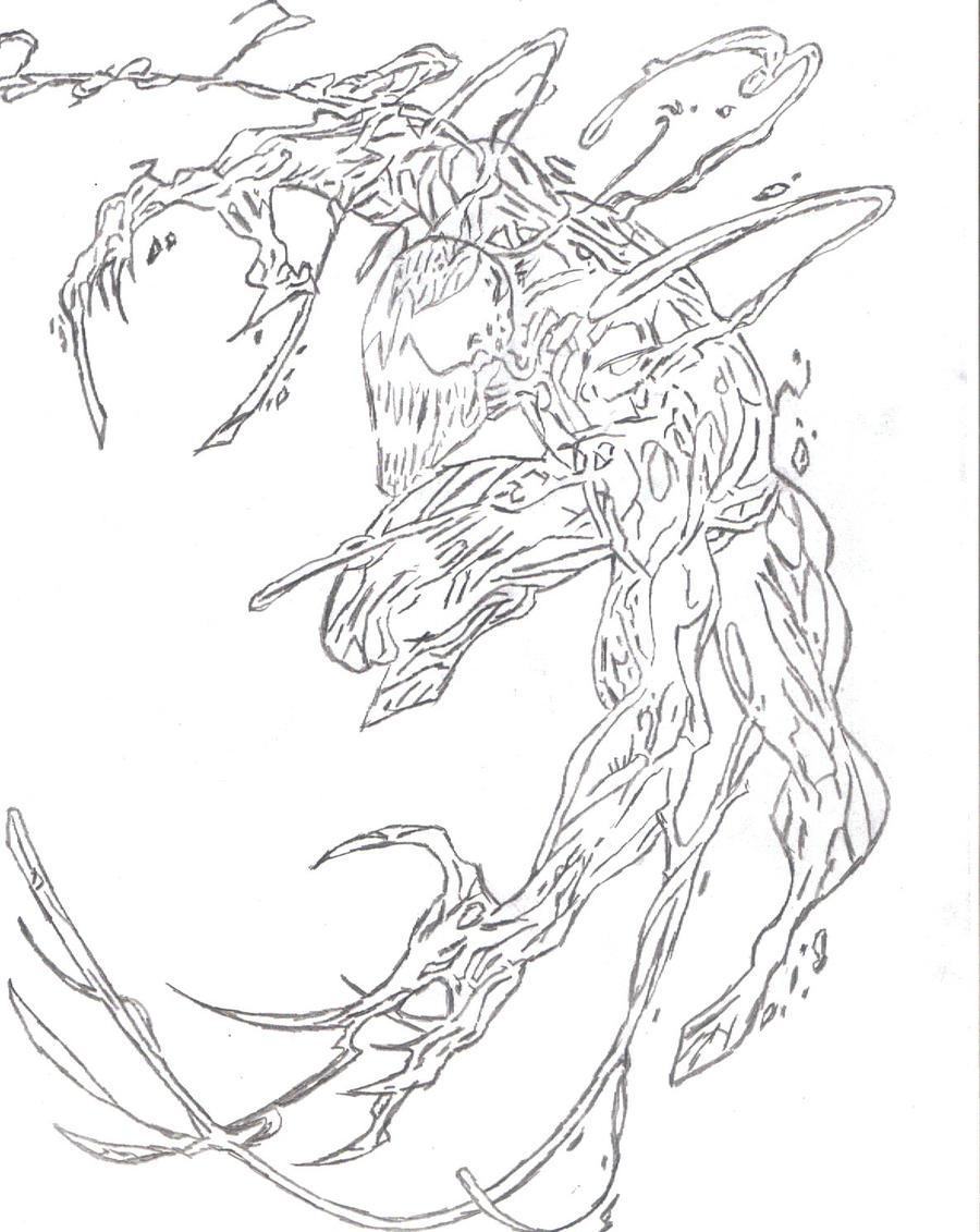 Line Art Comic : Carnage sketch by zombieplan on deviantart