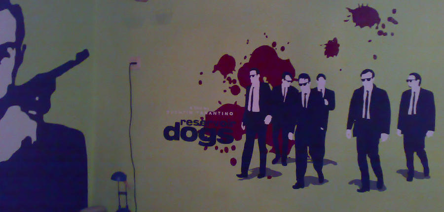 Reservoir Dogs Wallpainting by Nimueva