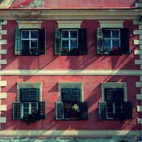 Windows of Sibiu by cenumesimplu