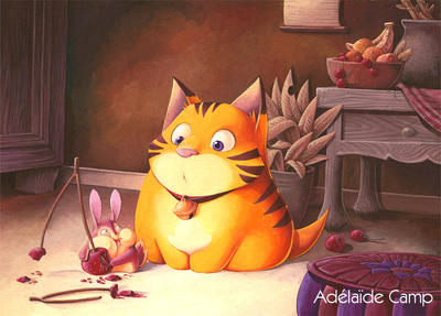 Le chat et le rongeur by Adelaide-Camp