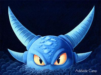Dragon bleu by Adelaide-Camp