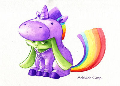 Lapin-licorne by Adelaide-Camp