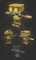 Low Poly Robot AL by bitgem